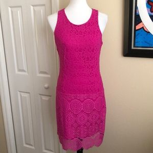 Laundry Pink Lace Fitted Dress - Size 4